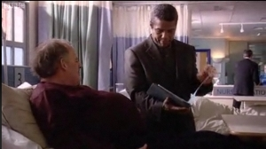 Ric Griffin (Hugh Quarshie) with his overweight patient