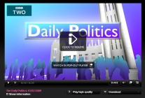 Watch this edition of The Daily Politics Show via BBC iPlayer (freely available until February 10th 2009)